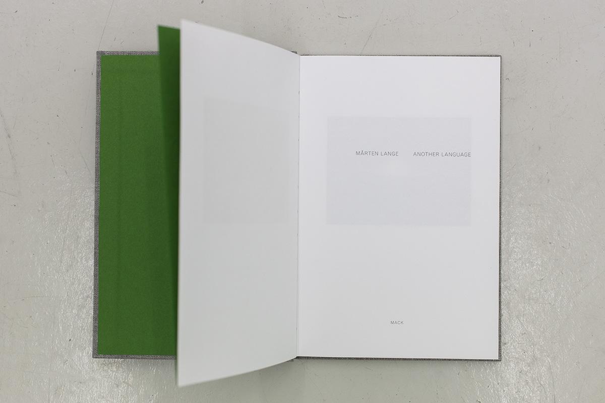 Mårten Lange - Another Language - MACK 2012 - ISBN 9781907946301