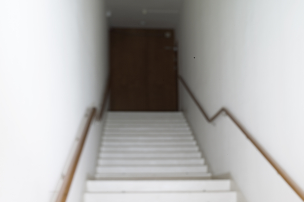 Morten Andenæs - Basement stairs, the embassy of the United States of America, Oslo - 40x50 cm - inkjet print on archival paper