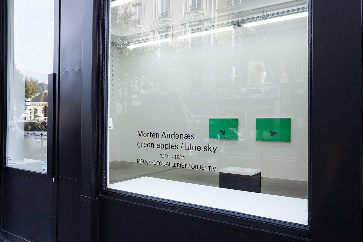 Morten Andenæs - green apples / blue sky - Paris November 2014