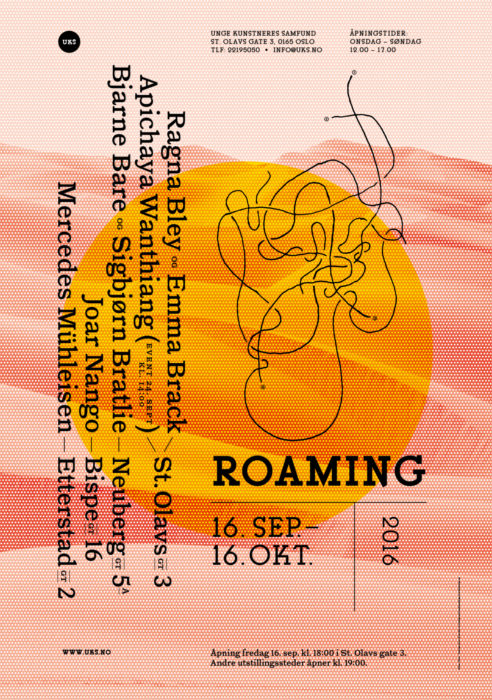UKS poster for Roaming by Ian Brown