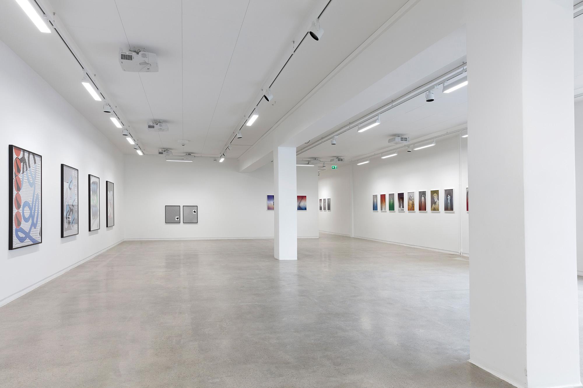 Installation view of MILKSHAKE #3 at Golsa, curated by MELK 2018